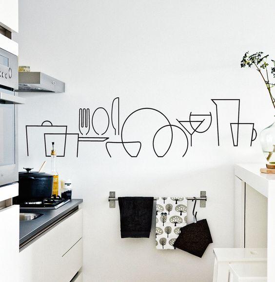 Vinilo para cocina cut vinilo arte vinilos decorativos Decoracion paredes cocinas modernas