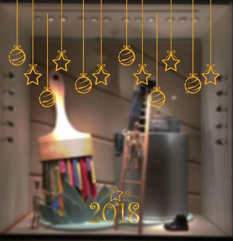 cartel escaparate navidad